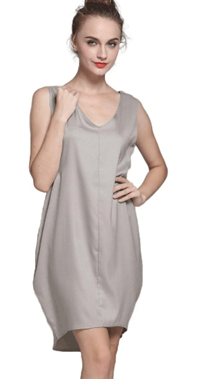 Chicuu: 51% Off Casual V Neck High Low Hem Asymmetric Shift Tank Mini Dress