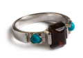 Henryka: £29 For Cherry Amber, Turquoise And Silver Retro Style Ring