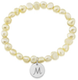 Argent Of London: Pearl Bracelet With Personalised Silver Disc (2650) For £36