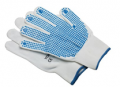 JKL Clothing: Yoko Adult's Blue Dot Pick And Go Work Gloves