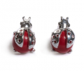 Henryka: £20 For Coral And Silver Ladybird Stud Earrings