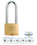 Door Handle Company: Long Shackle Brass Padlock, 38mm Or 50mm (Keyed To Differ) - CYPL1041SB/BP From £4.48 Inc VAT