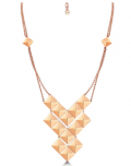 ROX: 66% Off ROX Identity Rose Gold Plate Stud Necklace