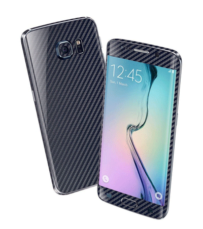 EasySkinz: Samsung Galaxy S6 EDGE 3D Textured CARBON Fibre Skin - Navy Blue For £10.44