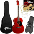 DJM Music: 51% Off Tiger Red Acoustic Guitar Pack