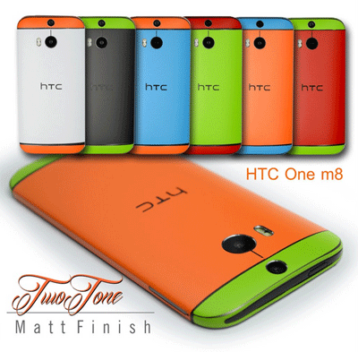 EasySkinz: HTC ONE M8 Two Tone COLORFUL MATT Skin Wrap Sticker Cover Decal Protector NOT CASE For £11.03