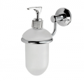 Door Handle Company: Del'Eau Tempo Liquid Soap Dispenser Holder & Glass Dispenser - POLISHED CHROME - LW27 For £30.68