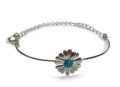Henryka: £29 For Turquoise & Silver Half Solid Daisy Chain Bracelet