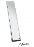 Door Handle Company: Tudor Finger Plate, Polished Chrome - BC695 For £23.17