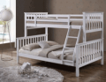 CrazyPriceBeds: 30% Off Oscar White Wooden Triple Sleeper Bunk Bed- Single & Double