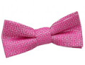 DQT: Boy's Greek Key Fuchsia Pink Bow Tie £4.99
