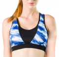 Azbro: Back Cross Strapes Printed Yoga Running Gym Bra
