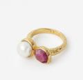 Isharya (Global): 53% Off Orchid Pearl Goddess Band Ring