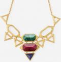 Isharya (Global): 50% Off Jewel Multicolor Croc Statement Necklace
