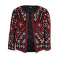 TFNC London: 85% Off Lace & Beads Penna Black Jacket + Free Shipping