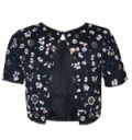 TFNC London: Best Selling - Lace & Beads Baby Navy Top