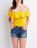 Charlotte Russe: 40% Off Lace Trim Off The Shoulder Crop Top